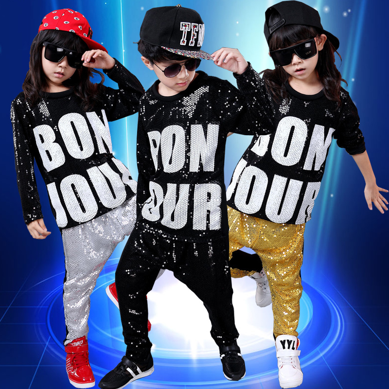 Provided 2019 Hip Hop Kids Girls Jazz Costume Purple Long Sleeve Shirt Pants Street Dance Clothes Modern Boys Stage Show Dancewear Dn2793 Chinese Folk Dance Stage & Dance Wear