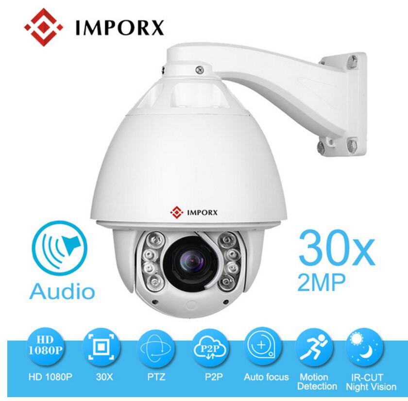 Аудио compression1080p IR 150 м PTZ камера с автоматическим отслеживанием ptz ip камера P2P ONVIF с стеклоочистителем