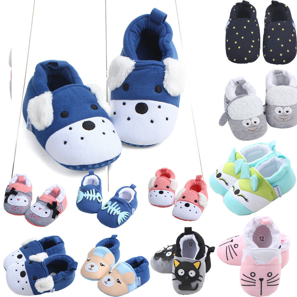 Non-slip Baby Shoes New Winter Autumn Baby Girls Boys First Walkers Toddler Kids Cartoon Cute Animal Soft Sole Cotton Crib Shoes
