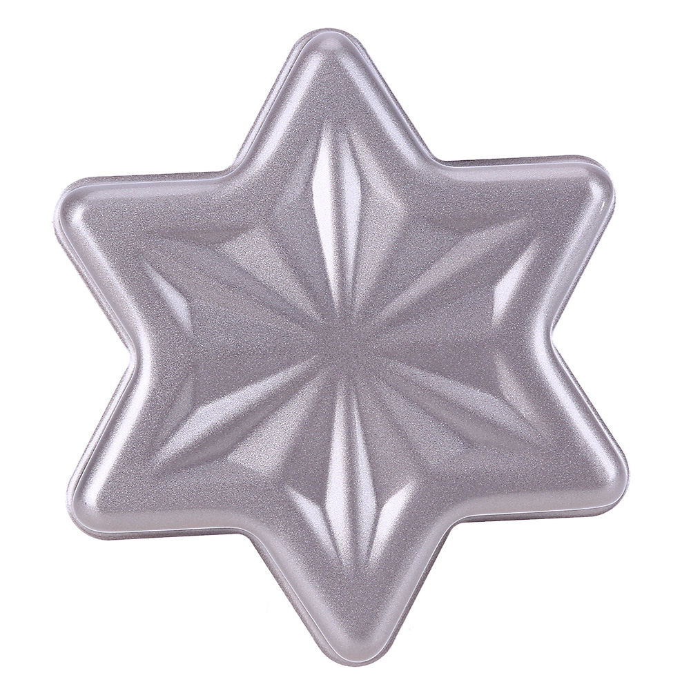 Gold Non Stick Snowflake Six Pointed Star Cheese Cake Mould Embossing Cookie Biscuit Cutter Cake