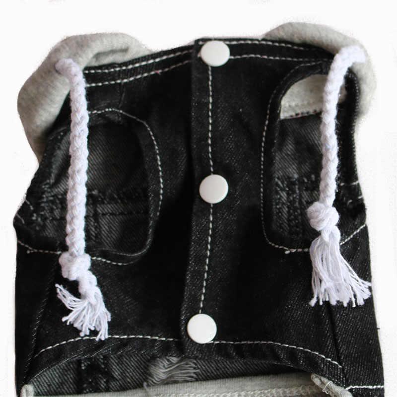 7 стиль весна осень Лидер продаж, ПЭТ джинсовый жилет отверстие ретро стиль собака куртка жилет с шляпа кнопка маленький средний Тедди DOGGYZ стиль