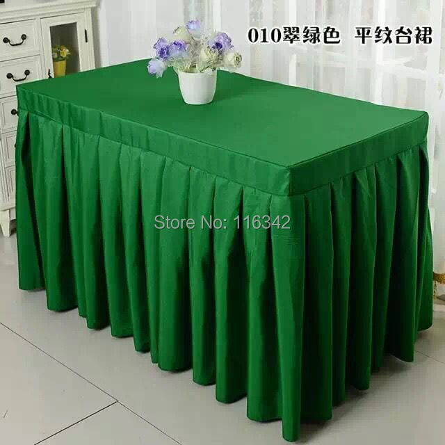 180*40*75cm 5pcs Ruched Table Skirt Polyester