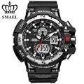 SMAEL Mens Sport Date Day Luminous Watch Waterproof LCD Digital Dual Display Alarm Quartz Analog Buckle Wristwatch / WCH0011