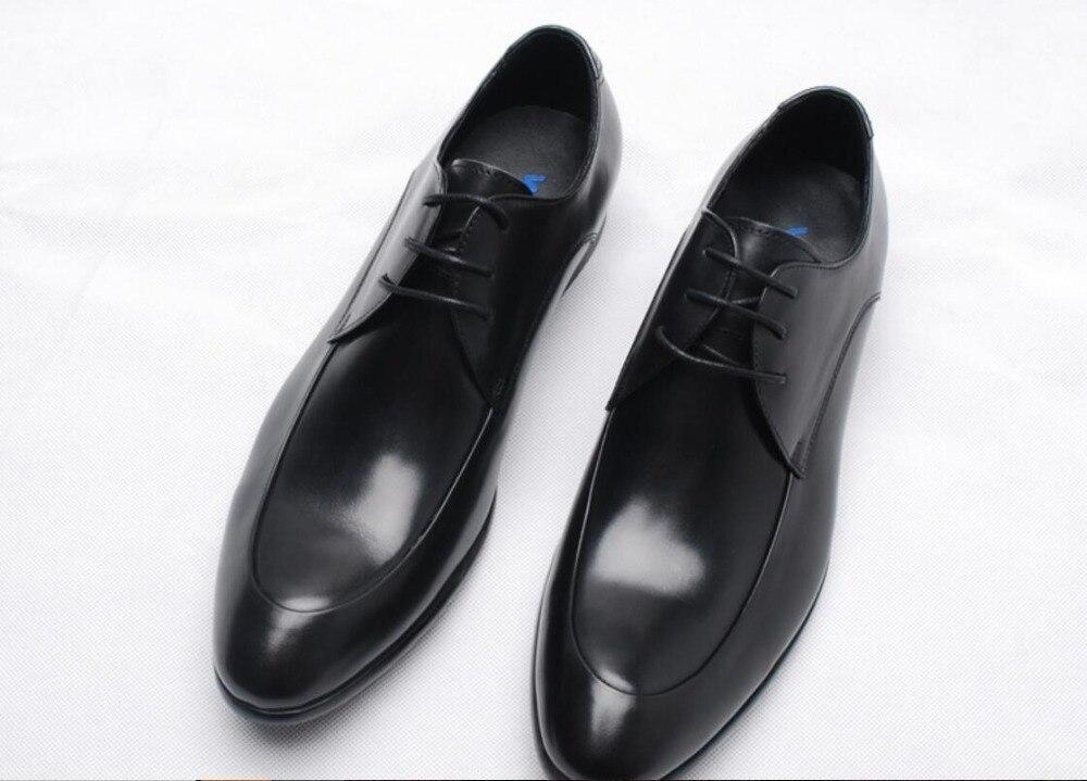 f4c885b407a862 Noir Hommes 1 Robe Lace Richelieus D'affaires 2 En Homme Up Chaussures  Véritable Jaune Cuir ...