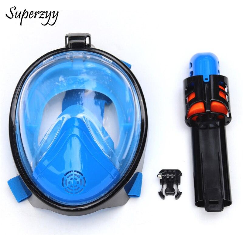 2018 Full Face Snorkeling Masks Panoramic View Anti fog Anti Leak Swimming Snorkel Scuba Underwater Diving
