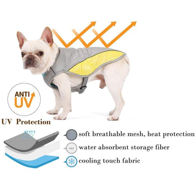Summer Dog Cooling Vest Clothes Cooling Harness  5