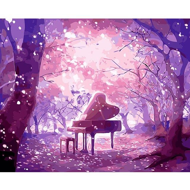 Aliexpress.com : Buy DEYI 40*50cm Diy Oil Painting Eve Dream Purple ...