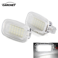 CARCHET 2X White 18 LEDs Courtesy Door Light For Mercedes Benz W221 W204 216 217 Welcome