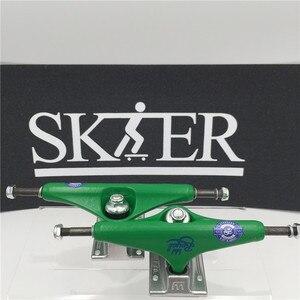 """Image 5 - 품질 스케이트 보드 부품 중간 중공 형 트럭 스케이트 보드 5.5 """"무늬 컬러 스케이트 트럭 알루미늄 트럭 de skate"""