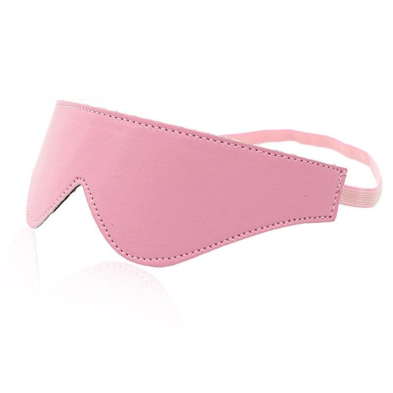 pink Plush PU Sexy Lady PU Mask Blindfold Sexy Eye Mask Patch Bondage Masque Sex Fun