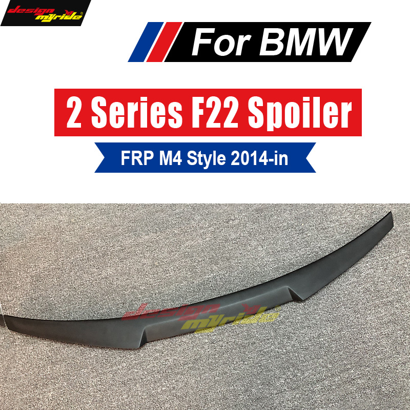 F22 M4 Style black FRP Primer High-quality Rear Diffuser Trunk Wing Spoiler for BMW 2-Series M2 F22 F23 220i 228i M235i 2014-in abs rear trunk spoiler wing lip for bmw 2 series f22 228i m235i 220i 2014 2015 car styling