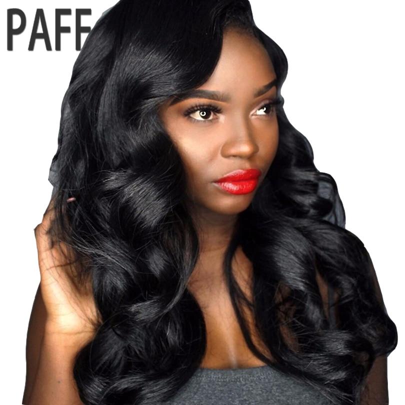 Paff Средства ухода за кожей волны 13*6 Синтетические волосы на кружеве парик перуанской Волосы Remy предварительно сорвал парик с естественным ...