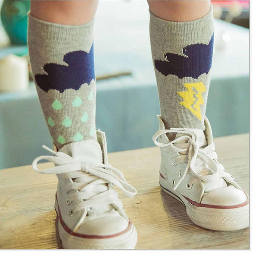 Baby Meisjes sok knie hoge Vos Katoen Schattige Kleine Karakter Kniekousen Kid Kleding unisex Peuter Boot Sokken Cartoon