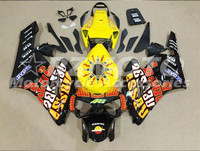 ACE KITS New ABS Injection Fairings Kit Fit For HONDA CBR1000RR 2004 2005 CBR1000RR 04 05 Black Yellow F75