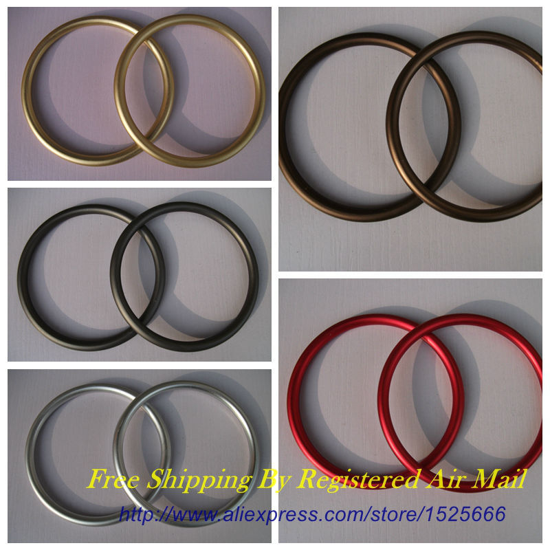 Free Shipping 20pcs 10pairs Large 3 Colored Aluminium Sling Rings