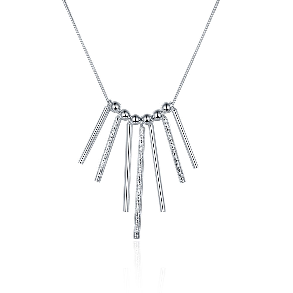 N094 silver severn pillars necklace,fashions