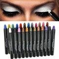 1 Unids 25 Colores Pro Glitter Eyeshadow Pencil Perlita Deslumbramiento No mareado de Gusanos de Seda Mentir Pen Highlighter Maquillaje Belleza Pegatinas herramienta