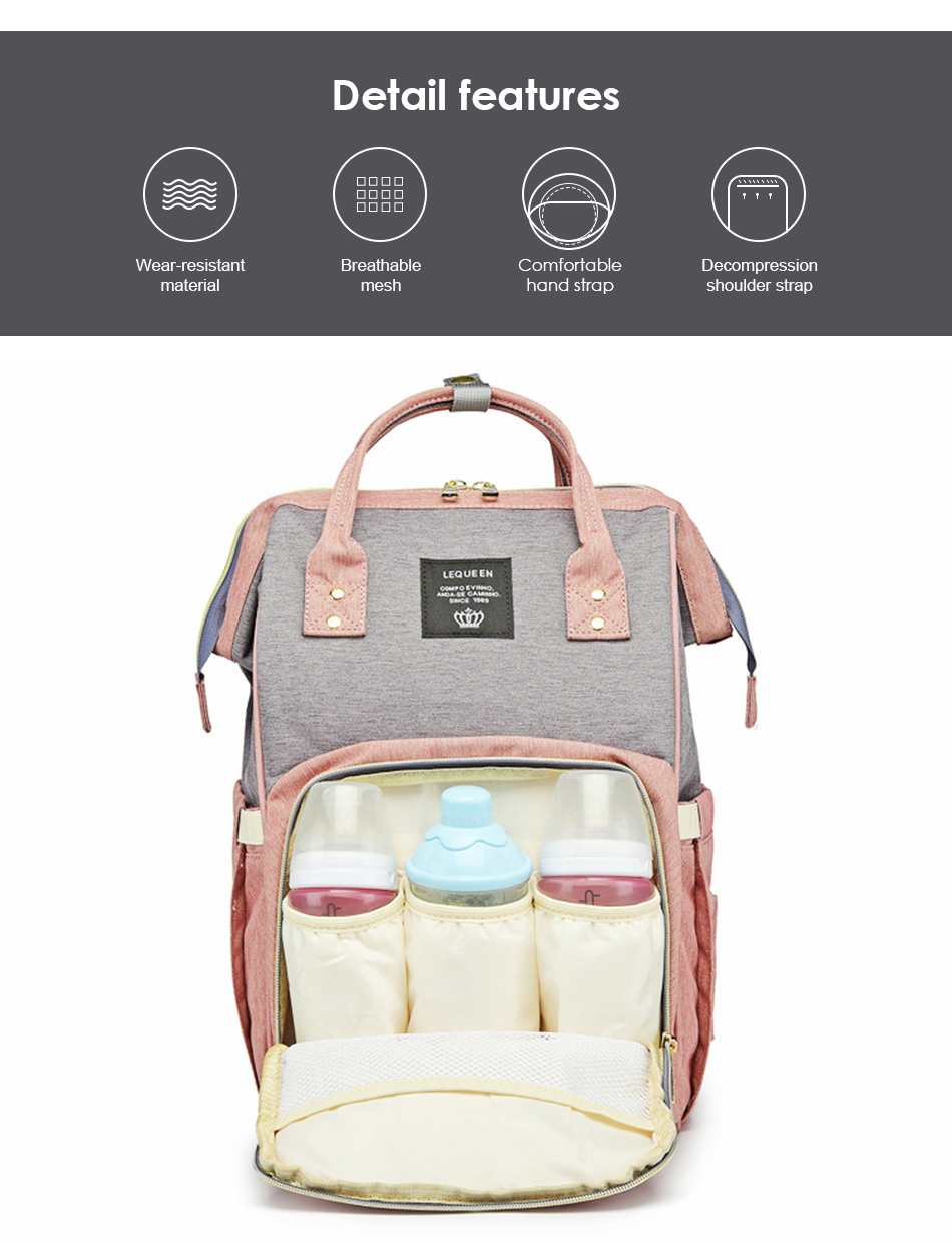 HTB1gMC5SNnaK1RjSZFBq6AW7VXav Nappy Backpack Bag Mummy Large Capacity Bag Baby Multi-function Waterproof Travel Diaper Bags For Baby Care Droshipping