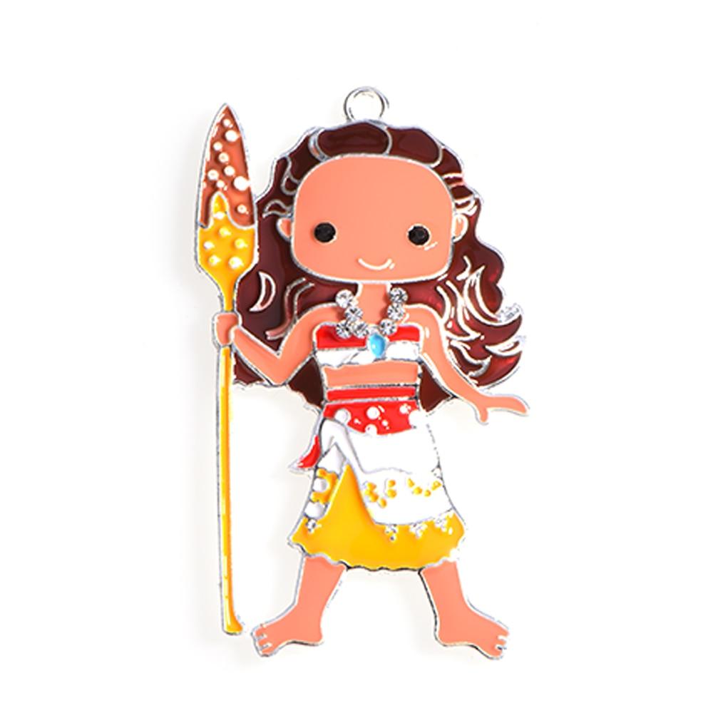 Elena Of Avalor Enamel Pendant Moana Charm Kawaii Girl Pendant Chunky Bubblegum Pendant Cute Charm Gifts Handmade For Necklace