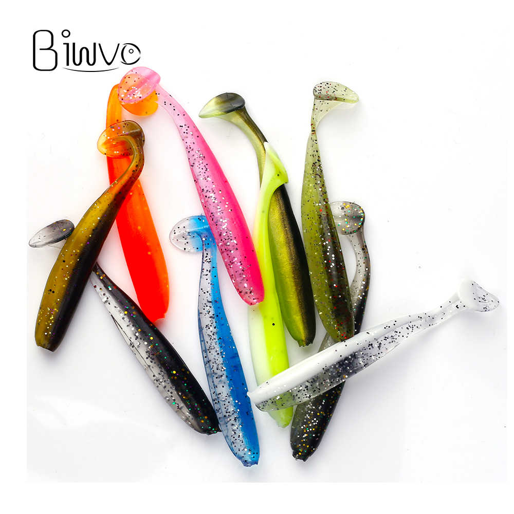 Biwvo 7cm 2g señuelos suaves Wobblers señuelo de pesca de silicona doble mosquetón fácil pesca de carpa Artificial isca