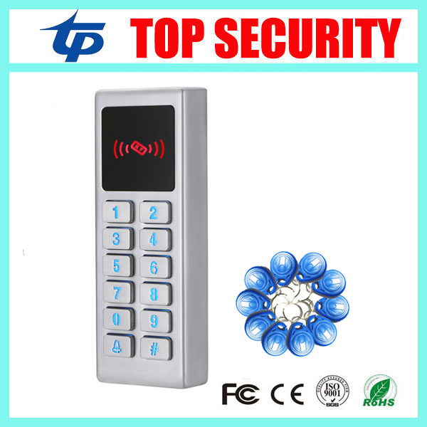 Standalone RFID card access control system surface waterproof door access controller metal ID card reader smart 13 56mhz mf ic card proximity card access control door opener rfid surface waterproof standalone access control system