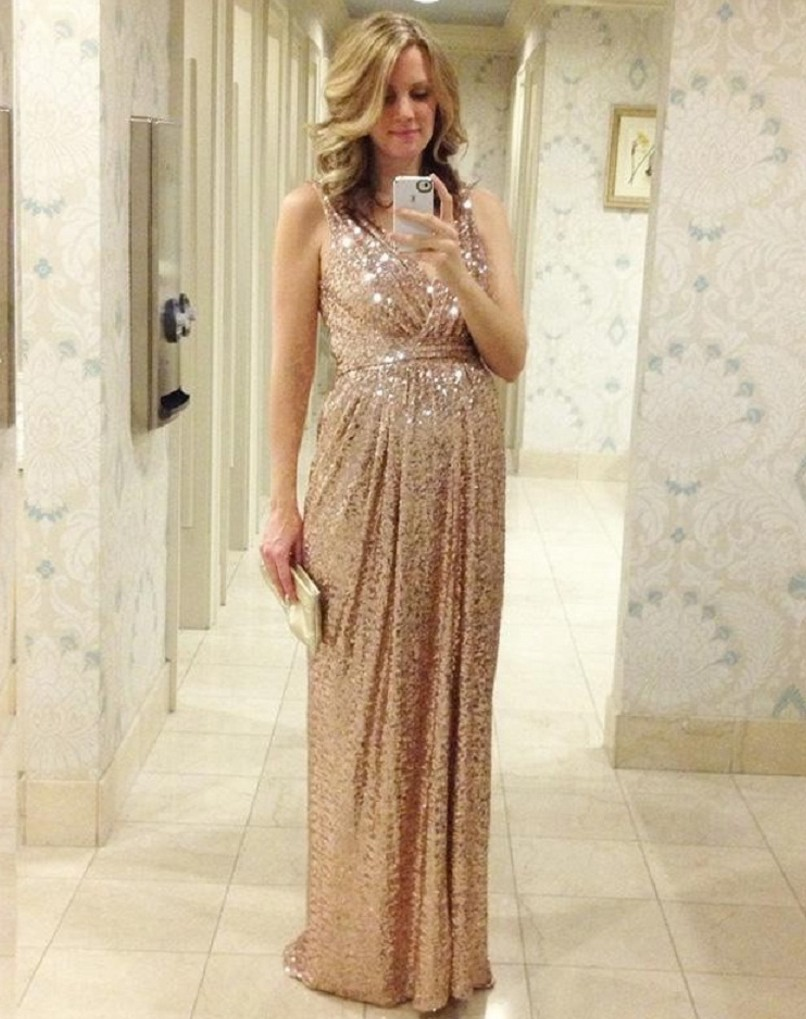 Compare prices on rose chiffon long bridesmaid dress online 2016 hot luxury dress rose gold sequins bridesmaid dresses v neck a line floor length maid ombrellifo Gallery