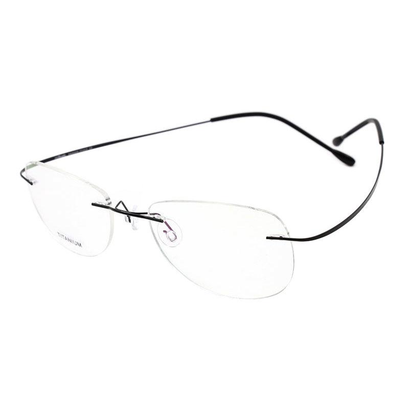 Moda Çerçevesiz Gözlük Çerçeve Optik Gözlük Titanyum Bellek - Elbise aksesuarları - Fotoğraf 3