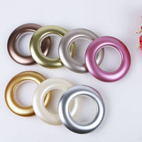 5 Sets Plastic Curtain Tie Rings Curtain Rods Ring Eyelet For Curtain Accessories Home Decoration Color