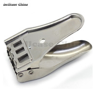 Currency 3 IN 1 Metal NANO Micro SIM Cards Cutters Caliper For IPhone Samsung Cut With