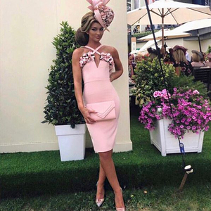 Image 5 - Adyce 2020 nuevo verano mujer rosa Floral vendaje vestido Vestidos de fiesta, de noche, de celebridad volantes Spaghetti Strap Club Dress