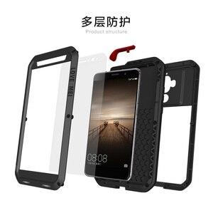 Image 5 - AMO MEI Para HUAWEI companheiro 8 companheiro 9 P9 P10 mais Poderosa Shockproof Dirtproof Metal Case capa do telefone de vidro Temperado