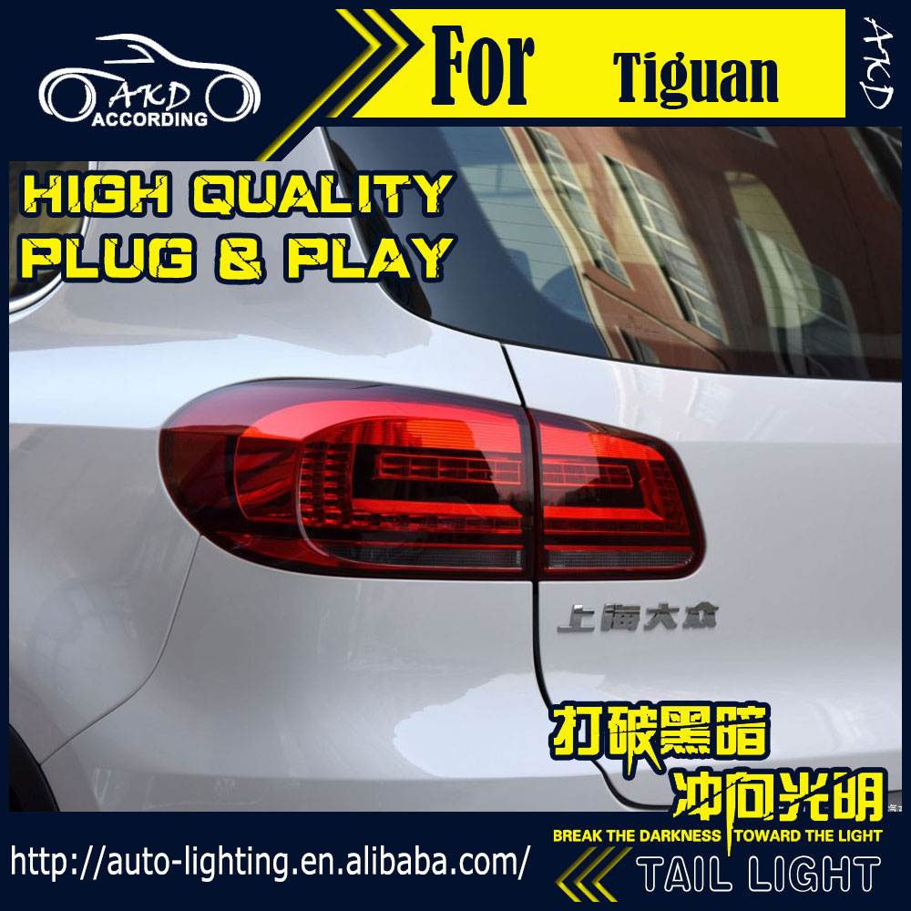 где купить AKD Car Styling Tail Lamp for VW Tiguan Tail Lights New Tiguan 2014 LED Tail Light LED Signal LED DRL Stop Rear Lamp Accessories по лучшей цене