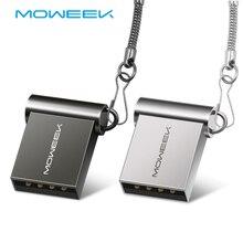 Moweek スーパーミニ金属 usb フラッシュドライブ 64 ギガバイト 32 ギガバイト 16 ギガバイト 8 ギガバイト 4 ギガバイトペンドライブポータブル 128 ギガバイトの usb 2.0 usb スティック収納フラッシュディスク