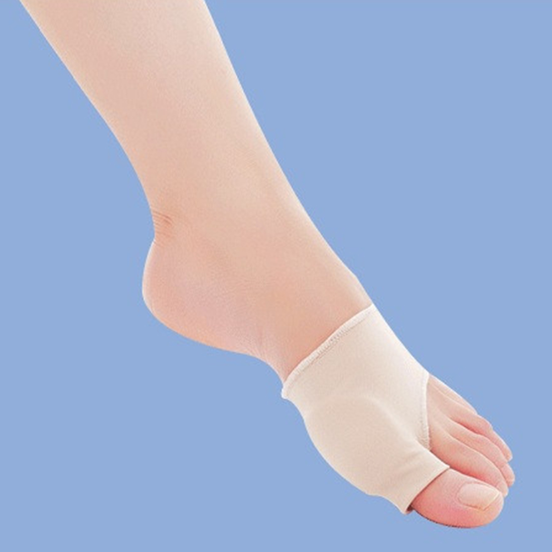 New 2pcs/pair Stretch Nylon Socks Hallux Valgus Guard Cushion Bunion Toe Separator Thumb Valgus Protector Pedicure Cyst