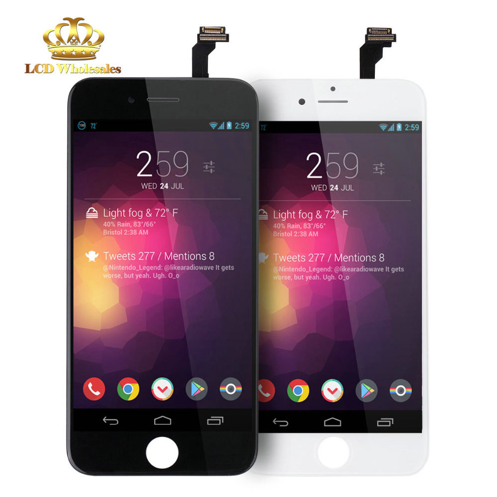 US $339 99 |mobile phone prices in dubai Free Temper Glass+LCD Display  +Touch Screen Assembly for iPhone 6 replacement screen with digitizer-in  Mobile