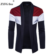 New Arrivals male casual knitwear sweater men cardigan 2018 spring style personality Fashion patchwork color Knitwear EI/US size