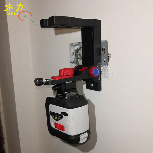 muli Adjustable Laser Level Wall Mounted Bracket Multifunctional Hanging Wall 360 Degree Laser Level L-Type Bracket Base