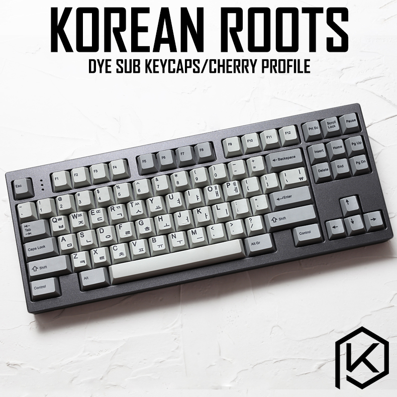 Kprepublic 139 Korean Root Korea Font Language Cherry Profile Dye Sub Keycap PBT For Gh60 Xd60 Xd84 Cospad Tada68 87 104