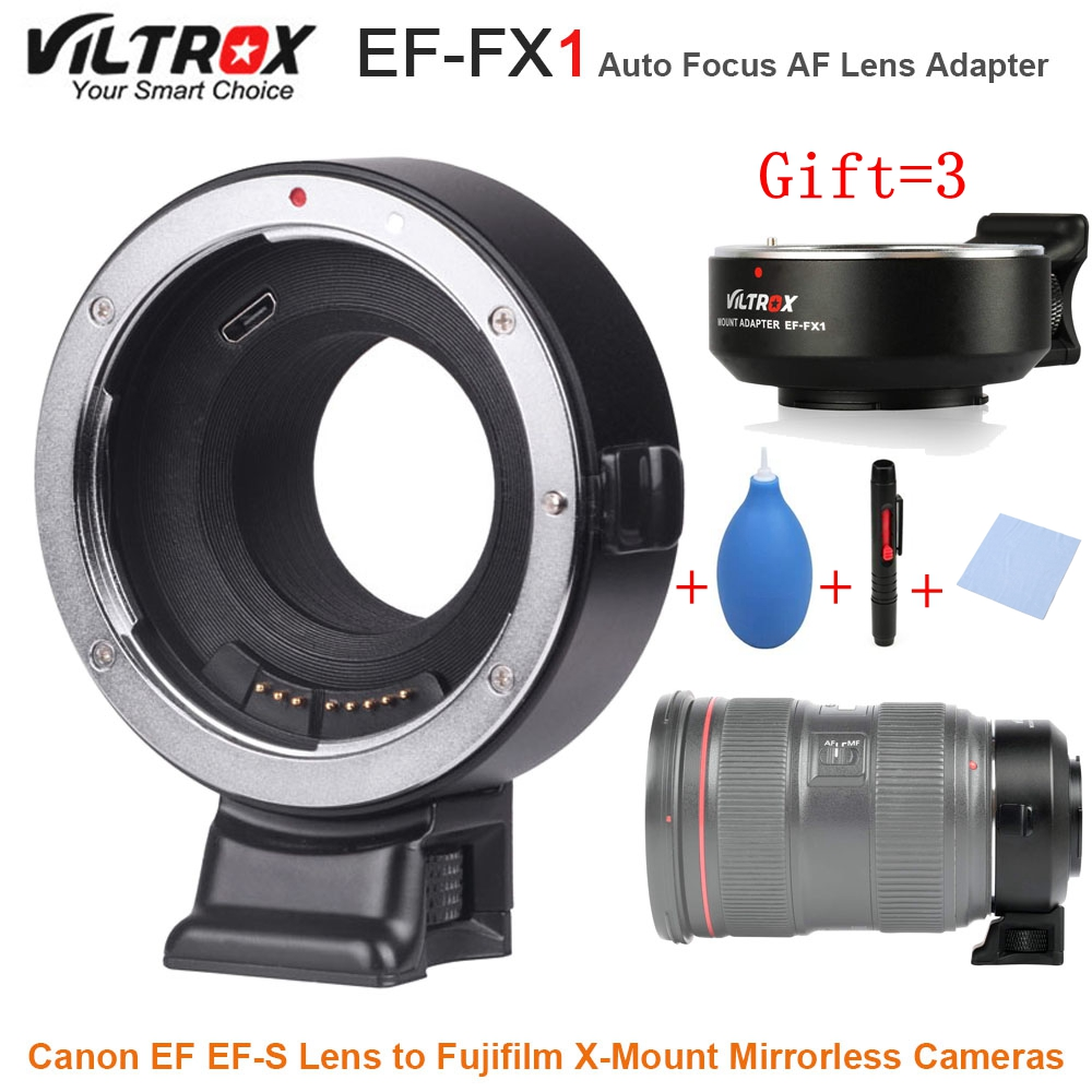 VILTROX EF-FX1 Auto Focus AF Lens Adapter Converter for Canon EF EF-S Lens to Fujifilm X-Mount Mirrorless Cameras цена
