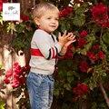 DB4531 dave bella primavera new arrival meninos cinza listrado cardigan sweater
