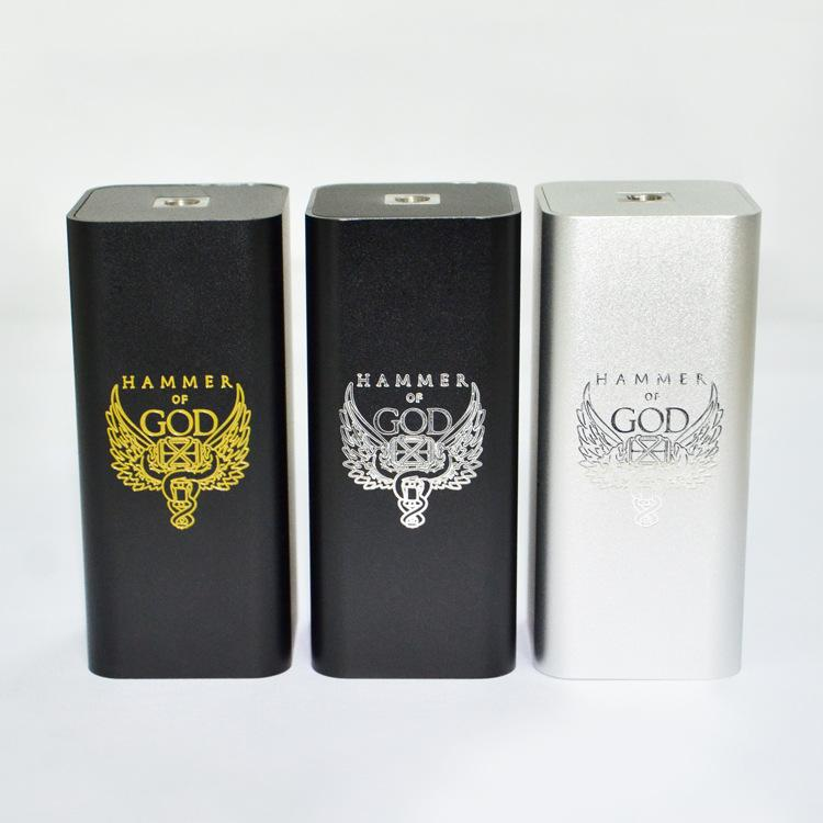 E Cigarette Hammer of God V3 Box Mod Powerful Vaporizer Mechanical Vape Mods Electronic Cigarette for RTA RDTA RDA Atomizer eCigE Cigarette Hammer of God V3 Box Mod Powerful Vaporizer Mechanical Vape Mods Electronic Cigarette for RTA RDTA RDA Atomizer eCig