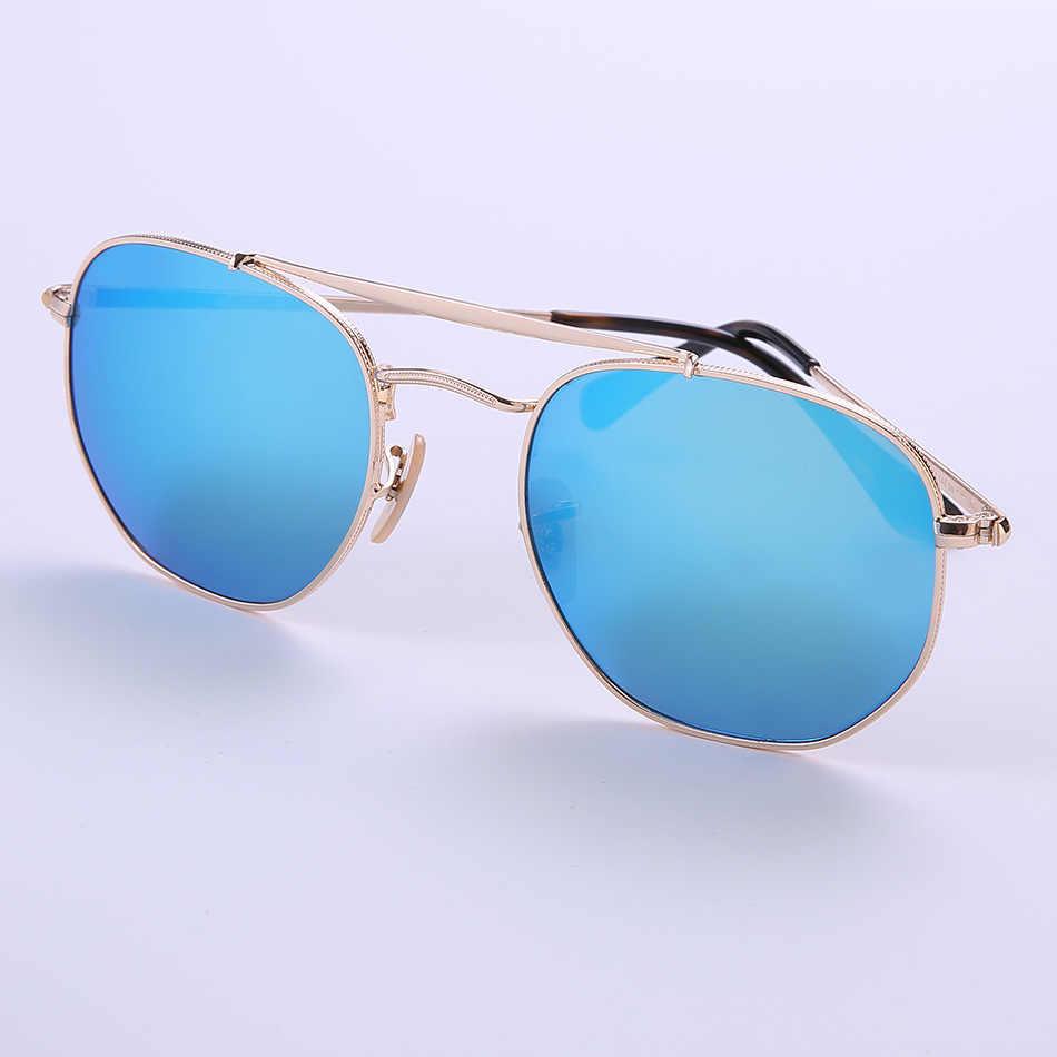 5d1cd3f7f3f0 Высокое качество пилот шестигранник Солнцезащитные очки Мужские 3648  Настоящее ...