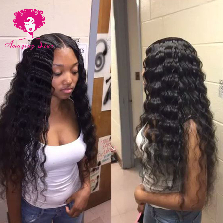 Peruvian Deep Wave AliModa Hair 8A Peruvian Curly Weave Bele Virgin Hair 3 Bundle Deals Deep