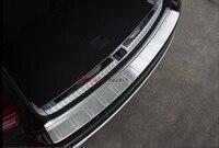 For Volkswagen VW Atlas Teramont 2017 2018 Stainless Steel Inner Outer Rear Bumper Plate Cover 2pcs