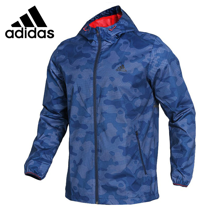 Original New Arrival 2018 Adidas WB CAMO AOP Men's jacket Hooded Sportswear original new arrival official adidas originals trf series aop men s jacket hooded sportswear