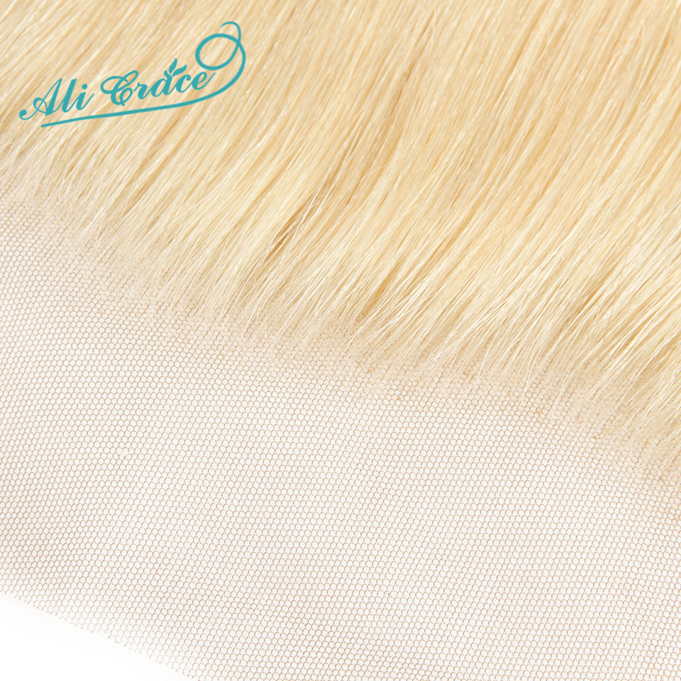 Image 5 - ALI GRACE Brazilian Straight 613 Blond 13x4 Lace Frontal Remy Ear to Ear Human Hair Frontal Can be dyed Free Shippping-in Closures from Hair Extensions & Wigs