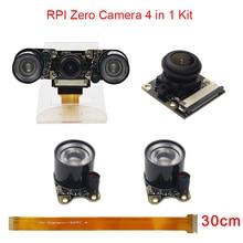 Buy Raspberry Pi Zero W Wide Angle Camera Fisheye Night Version 5MP 1080P + 2 IR LED Light + Acrylic Holder + 30 cm FFC Cable