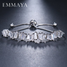 Emmaya Fashion Wanita Berlian Imitasi Cubic Zirconia Gelang Fashion Adjustable Gelang Perhiasan Bagus Gelang Hadiah(China)