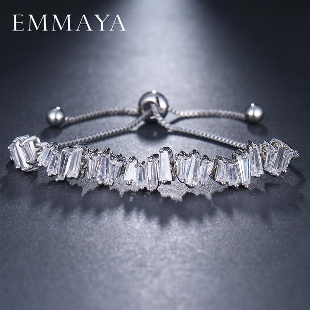 EMMAYA Fashion Women Rhinestone Cubic Zirconia Bracelet Fashion Adjustable Bangles Jewelry Nice Bracelet Gift