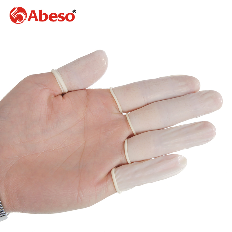 100/1000pcs/lot ABESO Antistatic durable latex finger cots safety gloves antislip for chalk Electronic finger cots A7213 anti static elastic finger cots stalls yellow size l 50 pcs